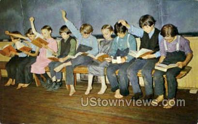 Amish Children & School - Lancaster, Pennsylvania PA Postcard