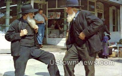 Two Amish Gentlemen - Lancaster, Pennsylvania PA Postcard