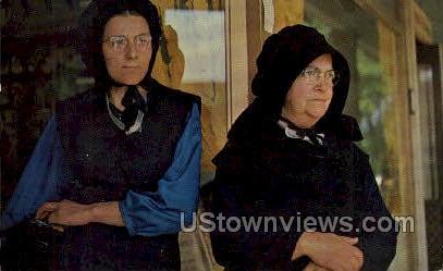 Amish Mother & Daughter - Lancaster, Pennsylvania PA Postcard
