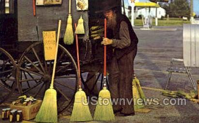 Amish Gentleman - Lancaster, Pennsylvania PA Postcard