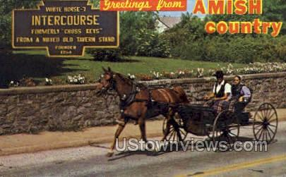 Amish Country - Lancaster, Pennsylvania PA Postcard