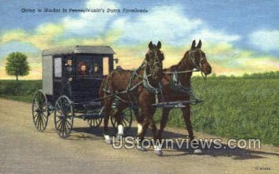 Going to Market, Farmlands - Lancaster, Pennsylvania PA Postcard