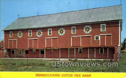 Dutch Hex Barn - Lancaster, Pennsylvania PA Postcard