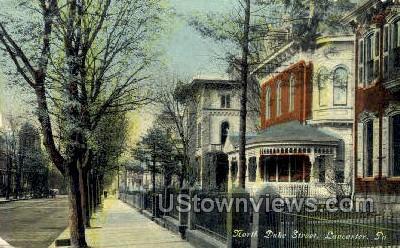 North Duke Street - Lancaster, Pennsylvania PA Postcard