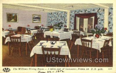 Willows Hotel - Lancaster, Pennsylvania PA Postcard