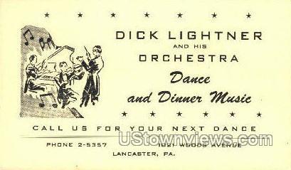 Dick Lightner & Orchestra - Lancaster, Pennsylvania PA Postcard