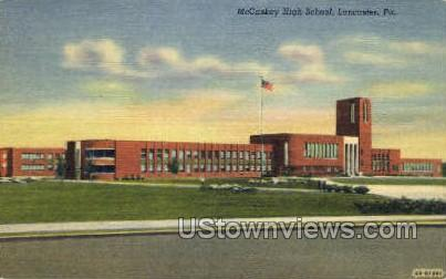 McCaskey High School - Lancaster, Pennsylvania PA Postcard