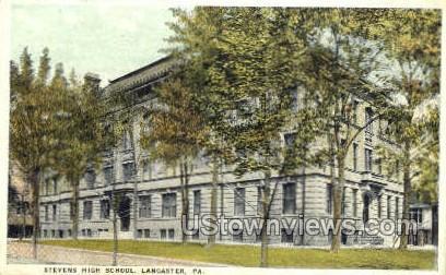 Stevens High School - Lancaster, Pennsylvania PA Postcard