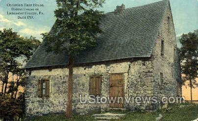Christian Herr House - Lancaster, Pennsylvania PA Postcard
