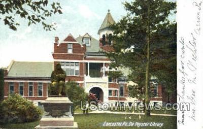 De Peyster Library - Lancaster, Pennsylvania PA Postcard