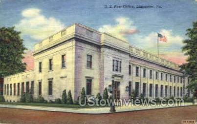 US Post Office, Lancaster - Pennsylvania PA Postcard