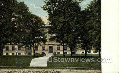 Science Bldg F. & M. College - Lancaster, Pennsylvania PA Postcard