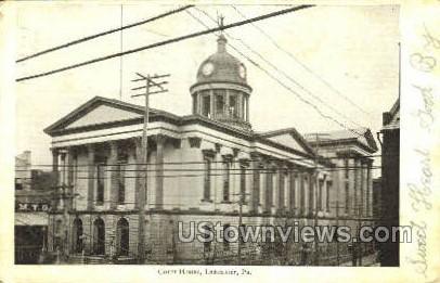 Court House, Lancaster - Pennsylvania PA Postcard