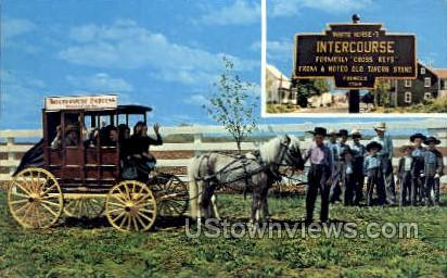 Amish Children - Lancaster, Pennsylvania PA Postcard