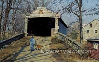 Hex Sign Covered Bridge - Lancaster, Pennsylvania PA Postcard