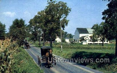 Ephrata, Amish Families - Lancaster, Pennsylvania PA Postcard