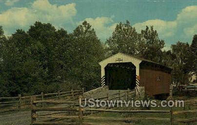 Old Covered Bridge - Lancaster, Pennsylvania PA Postcard