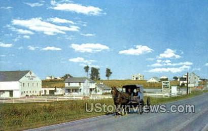 Amish Family Buggy - Lancaster, Pennsylvania PA Postcard