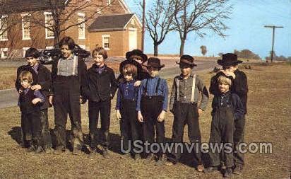 Amish, Dutch Country - Lancaster, Pennsylvania PA Postcard