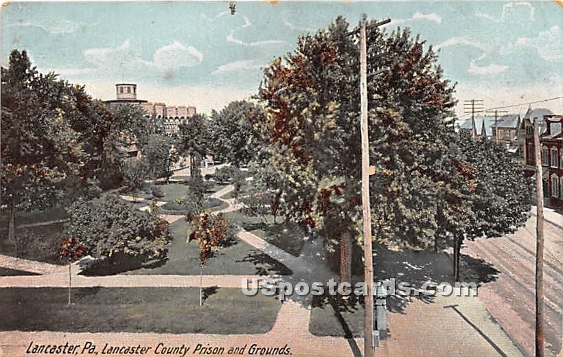 Lancaster County Prison & Grounds - Pennsylvania PA Postcard