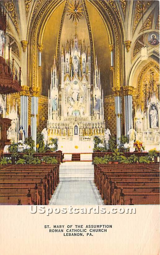 St Mary of the Assumption - Lebanon, Pennsylvania PA Postcard