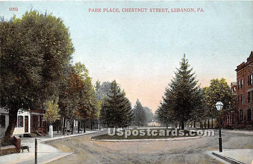 Park Place - Lebanon, Pennsylvania PA Postcard