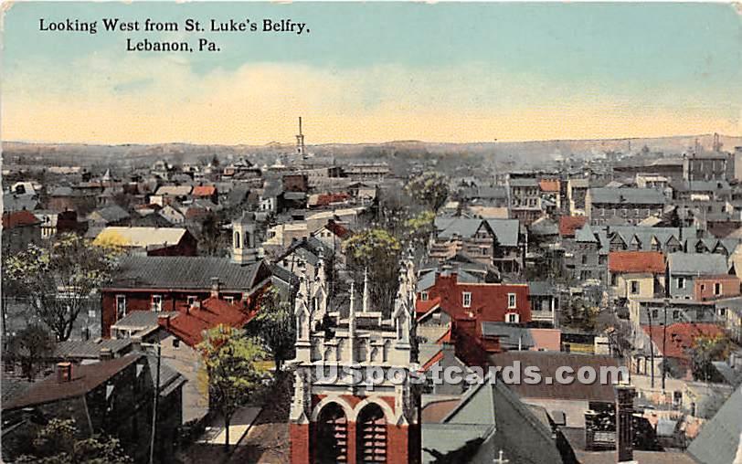 St Luke's Belfry - Lebanon, Pennsylvania PA Postcard