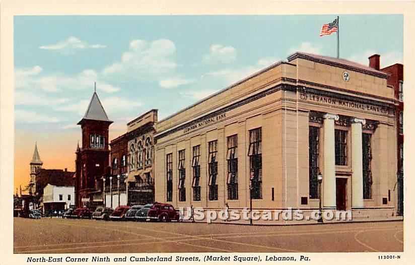 Market Square - Lebanon, Pennsylvania PA Postcard