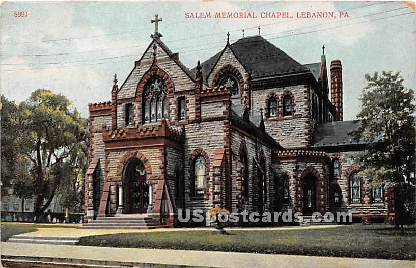 Salem Memorial Chapel - Lebanon, Pennsylvania PA Postcard