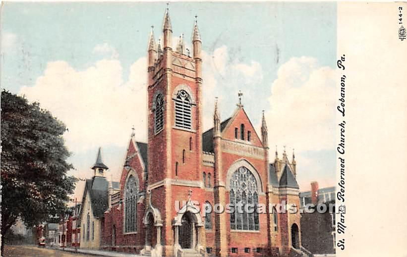 St Marks Reformed Church - Lebanon, Pennsylvania PA Postcard