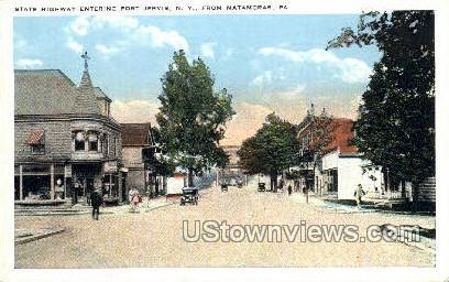 State Highway, Port Jervis - Matamoras, Pennsylvania PA Postcard