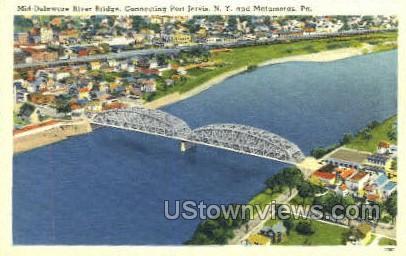 Mid-Delaware River Bridge - Matamoras, Pennsylvania PA Postcard