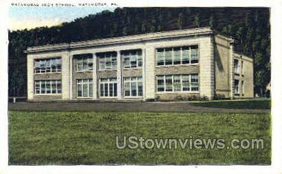 Matamoras High School - Pennsylvania PA Postcard