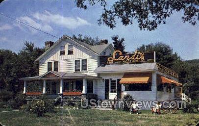 Landi's Italian American Restaurant - Cresco, Pennsylvania PA Postcard