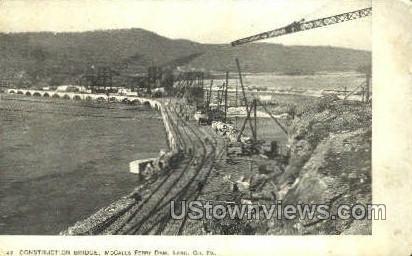 Construction Bridge - Lancaster, Pennsylvania PA Postcard