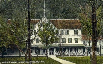 Pocono Farm Hosue - Matamoras, Pennsylvania PA Postcard