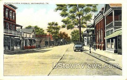 Penn. Ave. - Matamoras, Pennsylvania PA Postcard