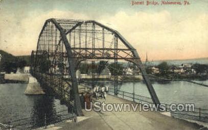 Barrett Bridge - Matamoras, Pennsylvania PA Postcard