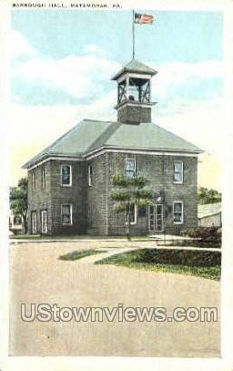 Barrough Hall, Matamoras - Pennsylvania PA Postcard