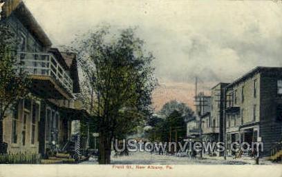Front Street - Albany, Pennsylvania PA Postcard