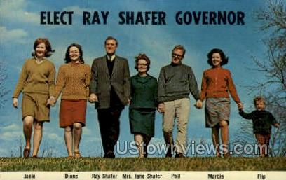 Elect Ray Shafer Governor - York, Pennsylvania PA Postcard