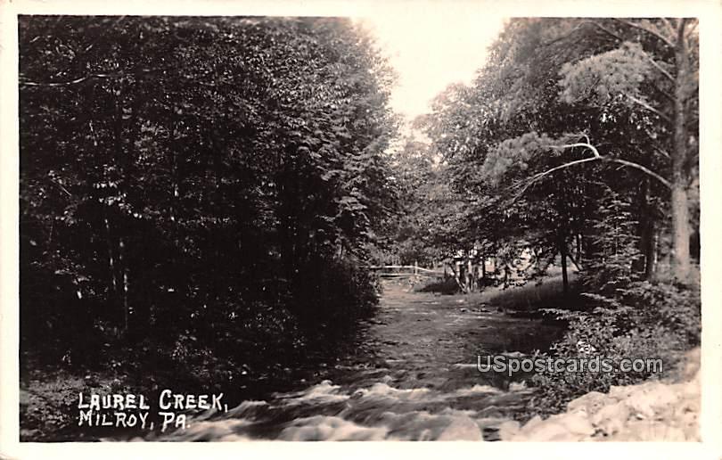 Laurel Creek - Milroy, Pennsylvania PA Postcard