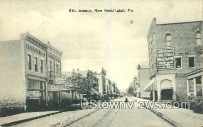 5th Ave. - New Kensington, Pennsylvania PA Postcard