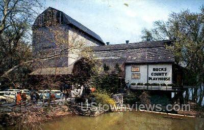 Bucks County Playhouse - New Hope, Pennsylvania PA Postcard