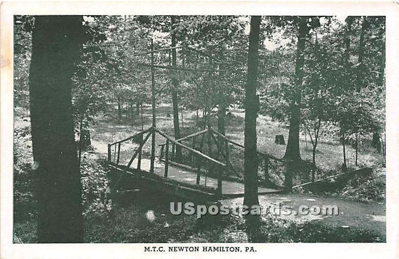 The Methodist Training Camp - Newton Hamilton, Pennsylvania PA Postcard