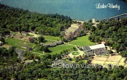 Lake Unity - Unity House, Pennsylvania PA Postcard