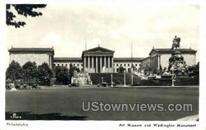 Art Museum Washington Monument - Philadelphia, Pennsylvania PA Postcard