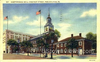 Chestnut Street - Philadelphia, Pennsylvania PA Postcard