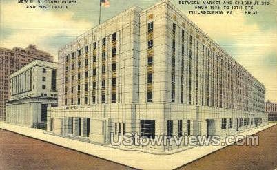 Market & Chestnut Street - Philadelphia, Pennsylvania PA Postcard