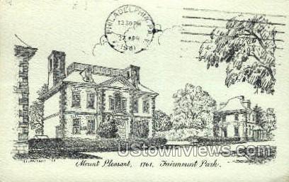 Mount Pleasant, Fairmount Park - Philadelphia, Pennsylvania PA Postcard